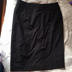 Calvin Klein Black Fitted Skirt